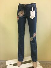 Christian Dior women's blue jeans with silk and glass NWT