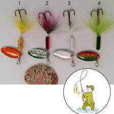 3.7g Metal Spoon Lures with Feather  Lure Spinner Jig Fake Bait for Fishing ;kui