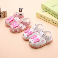 NEW Summer Baby Girls Sandals Shoes Lights  Infant Girls Closed Toe Sandals Size