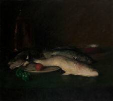 "William Merritt Chase : ""Still Life: Fish"" (by 1908) — Giclee Fine Art Print"