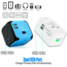 Dual USB Charger Converter Power Adapter International World Travel Outlet Plug