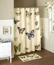 Butterfly Bathroom Collection Shower Curtain, Hooks, Hand Towels, Valance & More