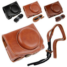 Leather Camera Case Bag Cover Pouch For Canon Powershot G7X Mark II G7XII G7X II