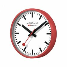 Mondaine Wall Clock Railway Station a995.clock.11sbc in Red xl-durchmesser