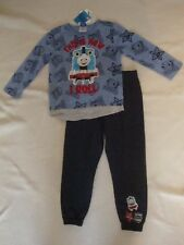 "THOMAS THE TRAIN   2 piece TOP & PANTS NWTS ""THIS IS HOW I ROLL"""