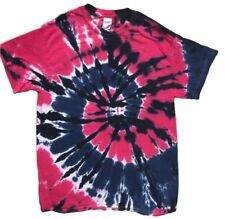Fuschia, Navy, Black Swirl Short Sleeve Tye Dye t shirt NEW DESIGN
