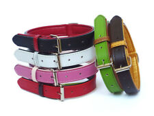 Fusion Leather Dog Collar - Small Medium Large XL Puppy - Extra Strong Collar UK