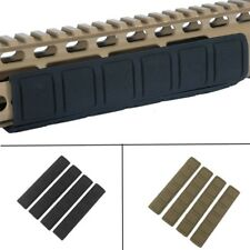 4 pieces Tactical Rifle Quad Rail KeyMod Rubber Soft Rail Cover Hunting