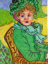 ACEO French lady from the 1800's miniature art print from my original Aceo art