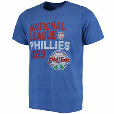 Majestic Threads Philadelphia Phillies Royal Throwback Cooperstown Collection