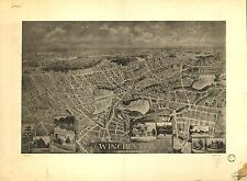 Poster Print Antique American Cities Towns States Map Winchester Mass