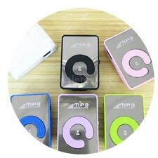 Mini USB Digital MP3 Music Player Mirror Clip TF Card 8G Support MP3 Player I0K7