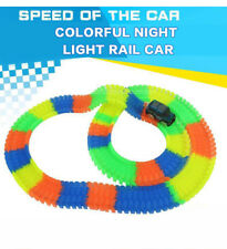 Magic Tracks Racing track LED Car Glowing 162-640Pc Race Track light Dark Toys