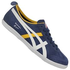 Asics Onitsuka Tiger Mexico 66 Trainers d2q4l-50015 Shoes Navy Blue Leather