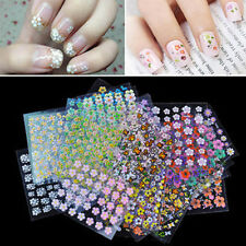 3D Nail Art Transfer Stickers Flower Decals Manicure Tips Decoration