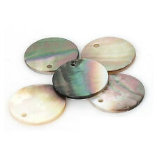 10 Pcs Black Shell Mother of Pearl Charms Round Coin Beads  for Jewelry Making