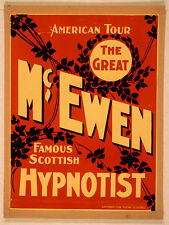 Photo Print Vintage Poster: Stage Theatre Flyer Stage Hypnotist Magician #01