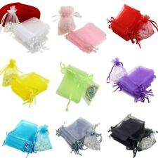 100Pcs/Set Organza Sheer Wedding Party Favour Gift Bags Candy Jewelry Pouch Bag