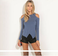 Women Sexy Clothes Long Sleeve Off Shoulder T-Shirt Casual Fitted Shirt Top