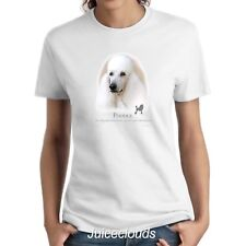 White Poodle Ladies Shirt Poodle Puppy Pet Rescue Dog Owner Women's Tee