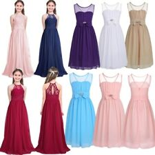 Lace Flower Girls Dress Wedding Pageant Formal Jr. Bridesmaid Long Maxi Dresses