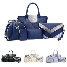 Women's Handbag Shoulder Bags Totes Messenger Bag Purse Leather 6pcs/Set Fashion