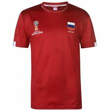 FIFA World Cup 2018 Russia T-Shirt Mens Red Football Soccer Top Tee Shirt