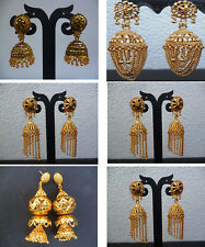 Indian Earrings 22K Gold Plated Gorgeous Fancy Jhumka Jhumki Set