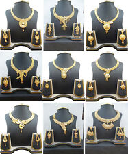 Necklace Indian 22K Gold Plated Bollywood Fancy Gorgeous Necklace Earrings Set