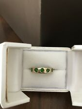 LADIES 9ct GOLD HALF ETERNITY RING SET WITH RUSSIAN DIOPSIDE STONES