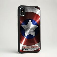 Captain America Shield Symbol Marvel Rubber Case Cover for iPhone Samsung Galaxy