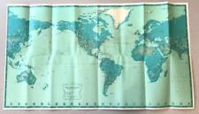 1960 Pan American World Airways System Travel Brochure * World Destination Map