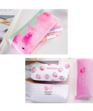 Pencil Teens Case Storage Makeup Cosmetic Strawberry Girls Pen Floral Pouch Bag