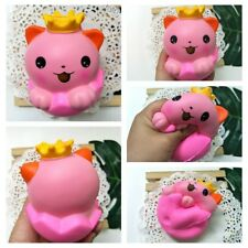 Cute Squishy Crown Eggshell Cat Slow Rising Squeeze Stress Reliever Kids Toys