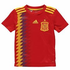 adidas Spain Home Jersey 2018 Juniors Red/Gold Football Soccer Top Shirt Strip