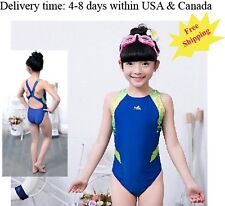 One piece swimsuit for girls racing & training swimsuit Yingfa 946 Blue swimsuit