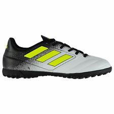 adidas Ace 17.4 AG Artificial Grass Trainers Mens Wht/Yel Football Soccer Shoes