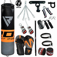 RDX UnFilled Punching Bag Boxing Gloves MMA Kick Martial Fight Punch Set CA