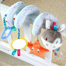 Newborn Baby Animals Spiral Rattle Infant Bed Stroller Crib Plush Doll Toys Gift