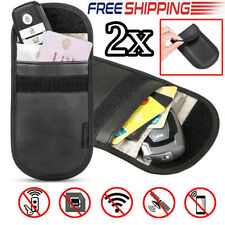 2x Anti Theft Car Key Keyless Entry Fob Faraday Bag Signal Guard Blocker Case