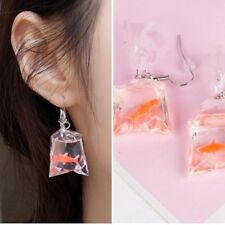 Goldfish Water Bag Shape Dangle Hook Earrings Charm Women Jewelry xmas Gift Girl