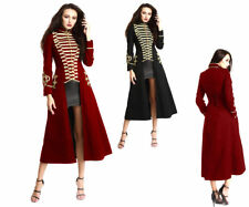 NEW WOOL GOTHIC LADIES LONG COAT STYLE OFFICER HUSSAR JACKET