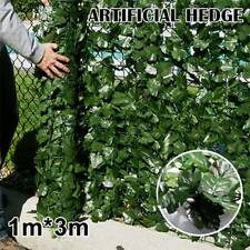3M Artificial Ivy Hanging Leaf Fence Green Garden Privacy Screen Hedge Plants US