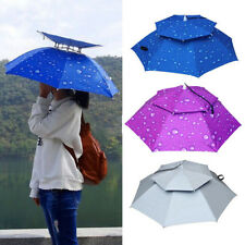 Breathable Umbrella Hat Foldable Mountaineering Outdoor Oxford Cloth Brand New