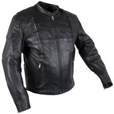 Xelement 6229 Turbulent Mens Black Armored Cowhide Leather Motorcycle Jacket