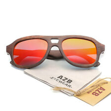 Retro Polarized Solid Bamboo Wood UV400 UV Protection Sunglasses for Women Men