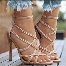 Women Ladies High Heels Strappy Peep Toes Sandals Stilettos Hollow Shoes Fashion