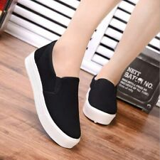 Womens Summer Slip On Moccasin Sneaker Canvas Loafers Shoes Flats Fashion Casual