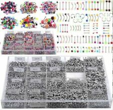 105pcs Wholesale Jewelry lots Body Piercing Eyebrow Belly Tongue Lip Bar Ring