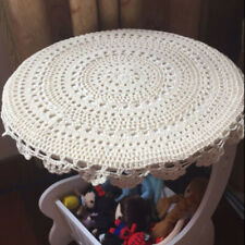 Kitchen Dining Table Round Pad Placemat Insulation Pad Handmade Crochet Lace